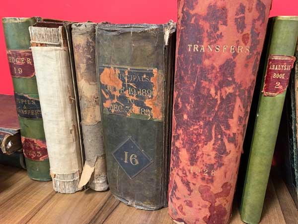 Historic education books at Gabbitas