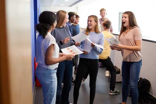 Students enjoying exam success