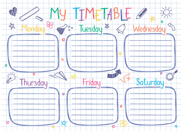 Home schooling timetable