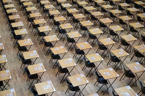 Empty examination hall